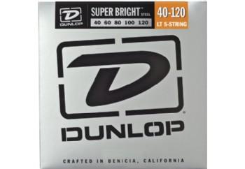 Jim Dunlop DBSBS40120 Super Bright Stainless Steel Takım Tel - 5 Telli Bas Gitar Teli 040-120
