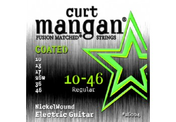 Curt Mangan 16004 Nickel Wound COATED Takım Tel - Elektro Gitar Teli 010
