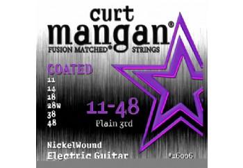 Curt Mangan 16006 Nickel Wound COATED Takım Tel - Elektro Gitar Teli 011
