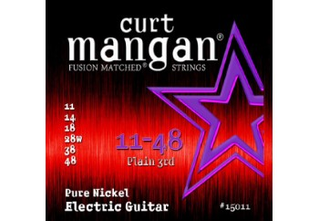 Curt Mangan 15011 Pure Nickel Takım Tel - Elektro Gitar Teli 011