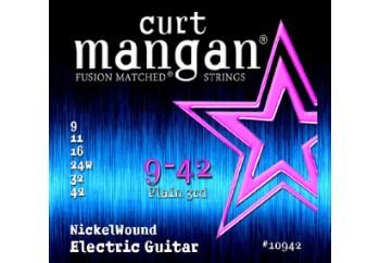 Curt Mangan 10942 Nickel Wound Takım Tel - Elektro Gitar Teli 009