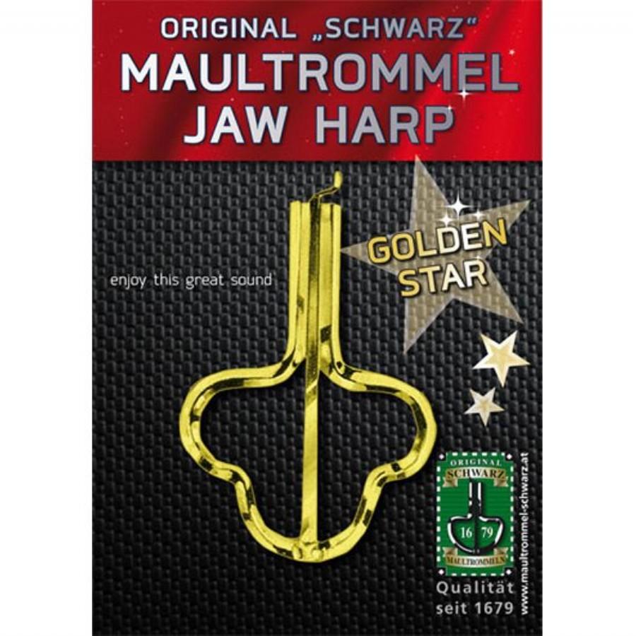 Musik Schwarz Golden Star Jaw Harp