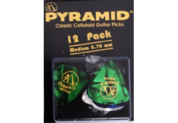 Pyramid Classic Celluloid Guitar Picks 12 Adet - 0.70 mm Medium - Pena