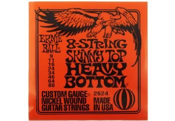 Ernie Ball P02624 Slinky Skinny Top Heavy Bottom Takım Tel - 8 Telli Elektro Gitar Teli 009-80
