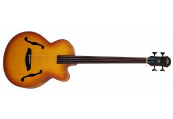 Aria FEB-FL LVS - Light Vintage Sunburst - Perdesiz Akustik Bas Gitar