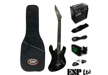LTD LMPACKBLKS M Serisi Mat Siyah - Elektro Gitar Seti