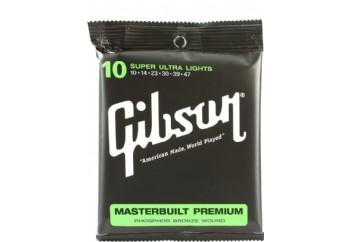 Gibson SAG-MB10 Masterbuilt Premium Phosphor Bronze Takım Tel