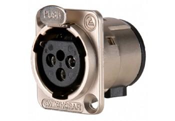 Switchcraft E3FSC - Şasi Tipi 3-pin XLR (Dişi)
