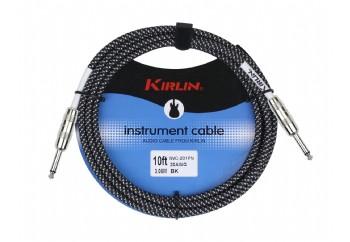 KIRLIN IWC-201PN-3M Siyah/Beyaz - 3 metre - Enstrüman Kablosu (3 mt)