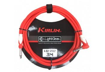 KIRLIN LGI-202-3M Red - 3 metre - Enstrüman Kablosu (3 mt)