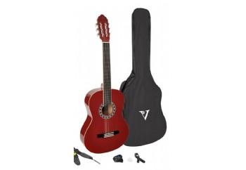 Valencia CA-1 ESTUDIO Classical Guitar Pack WR - Wine Red - Klasik Gitar Seti