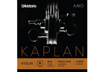 D'Addario KA310 4/4M Kaplan Amo Series Violin String Set A (La) Light Tek Tel
