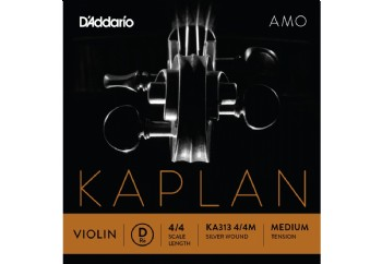 D'Addario KA310 4/4M Kaplan Amo Series Violin String Set D (Re) Medium Tek Tel - Keman Teli
