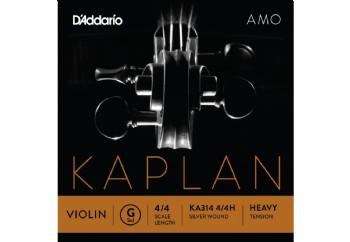 D'Addario KA310 4/4M Kaplan Amo Series Violin String Set G (Sol) Heavy Tek Tel - Keman Teli