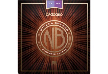 D'Addario NB1152 Nickel Bronze Acoustic Guitar Strings, Custom Light, 11-52 Takım Tel - Akustik Gitar Teli 011-052