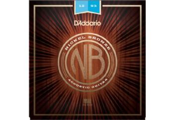 D'Addario NB1253 Nickel Bronze Light 12-53 Takım Tel - Akustik Gitar Teli 012-053