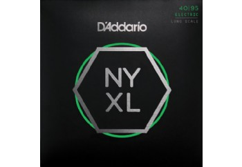 D'Addario NYXL4095, Set Long Scale, Super Light, 40-95 Takım Tel - Bas Gitar Teli 040-095