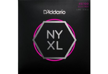 D'Addario NYXL45100, Set Long Scale, Regular Light, 45-100 Takım Tel - Bas Gitar Teli 045-100