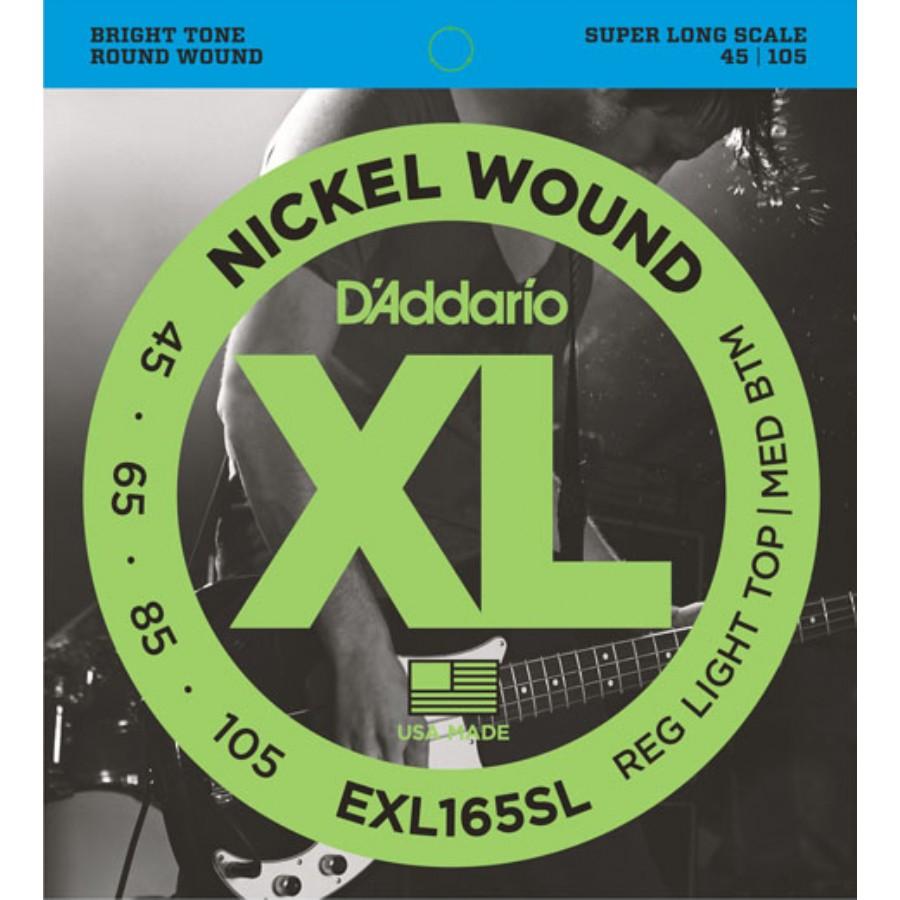 D'Addario EXL165SL Nickel Wound Bass, Custom Light, 45-105, Super Long Scale