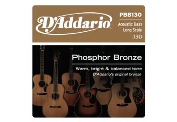 D'Addario PBB130 Phosphor Bronze Acoustic Bass Single Strings Long Scale Tek Tel - Akustik Bas Gitar Tek Tel  .130