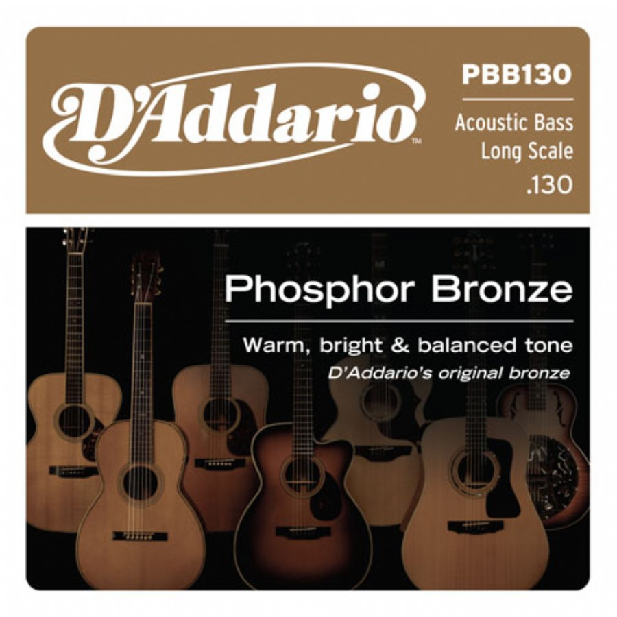 D'Addario PBB130 Phosphor Bronze Acoustic Bass Single Strings Long Scale