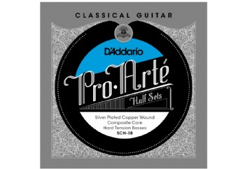 D'Addario SCH-3B Pro-Arte Hard Tension Half Set Üst 3 Tel - Klasik Gitar Teli (Sadece Bas Teller)