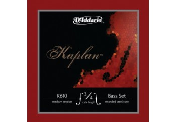 D'Addario K610 3/4M Kaplan Bass String Set Medium Tension Takım Tel - Kontrbas Teli 3/4