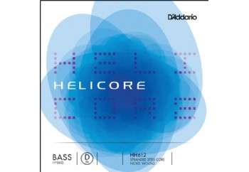 D'Addario H612 3/4M Helicore Orchestral Bass D 3/4 Scale Medium Takım Tel