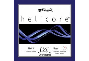D'addario H613 Helicore 3/4 Nickel Double Bass String - Medium B (Si) - Tek Tel - Kontrbas Teli B (Si)