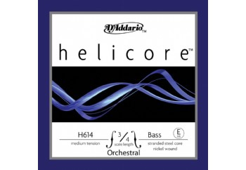 D'Addario Bowed H614 3/4M Helicore Orchestral Bass Single - Medium E (Mi) - Tek Tel