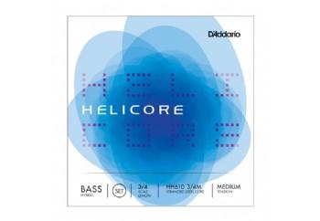 D'Addario HH610 3/4M Helicore Hybrid Double Bass String - Medium Takım Tel - 3/4 Kontrbas Teli