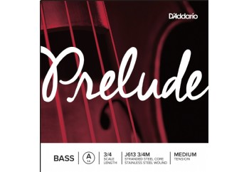 D'addario J613 3/4M Prelude Bass Single A String 3/4 Medium A (La) - Tek Tel - Kontrbas Teli A (La)