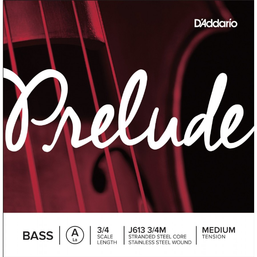 D'addario J613 3/4M Prelude Bass Single A String 3/4 Medium