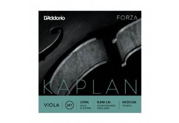 D'addario K410-LM Long Medium Kaplan Forza Viola Strings Takım Tel - Viyola Teli