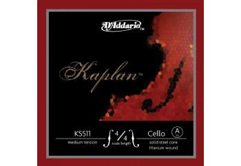 D'Addario KS511 Kaplan Solutions 4/4 Cello A String A (La) - Tek Tel - Çello Teli (A) La
