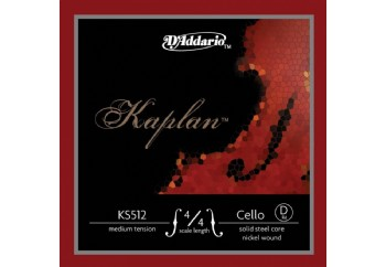 D'Addario KS512 Kaplan Solutions 4/4 Cello D String D (Re) - Tel Tel - Çello Teli (D) Re