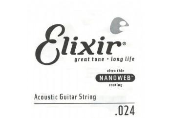Elixir Wound Acoustic Single .024w Tek Tel - Akustik Gitar Tek Tel