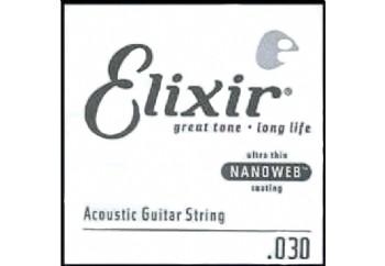 Elixir Wound Acoustic Single .030w Tek Tel - Akustik Gitar Tek Tel