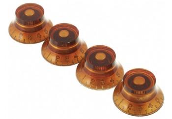 Gibson Top Hat Knobs Vintage Amber - 4'lü - Potans Düğmesi