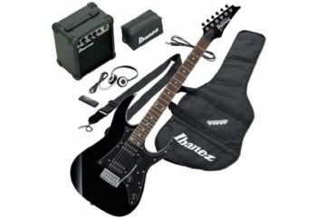 Ibanez Jumpstart IJRG200 Electro Guitar W/Bag Accessory Kit Black - Elektro Gitar Seti