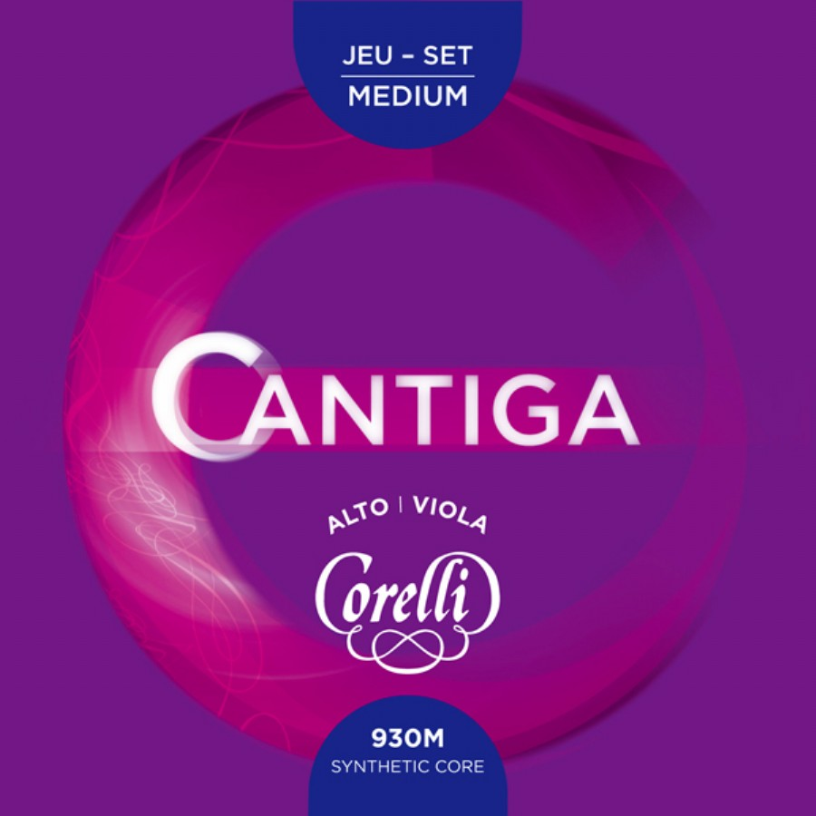 Corelli Cantiga 930M Viola String Full Set, Medium Tension