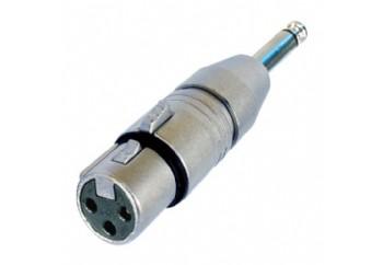 Neutrik NA2FP - XLR (Dişi) - 6.35 mm. Mono (Erkek)