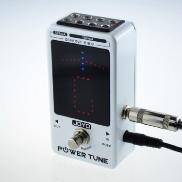 JOYO JF-18 Power Tune Guitar Effect Pedal Power Supply & Chromatic Floor Tuner