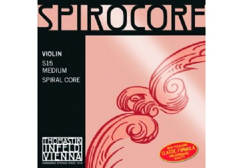 Thomastik Spirocore Medium Violin Strings Mi (E) - Tek Tel - Keman Teli