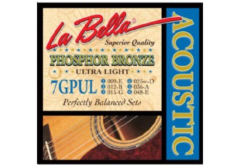 La Bella 7GPUL Phosphor Bronze - Ultra Light Takım Tel - Akustik Gitar Teli 009-048