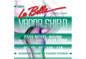 La Bella VSB5A Vapor Shield Bass Strings  Takım Tel - 5 Telli Bas Gitar Teli 040-118