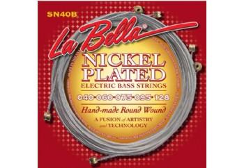 La Bella SN40-B Nickel Rounds Takım Tel - 5 Telli Bas Gitar Teli 040-128