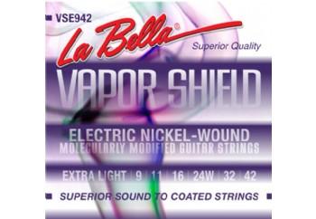 La Bella Vapor Shield VSE942 Extra Light Takım Tel - Elektro Gitar Teli 009-042