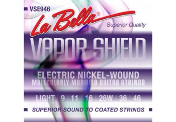 La Bella Vapor Shield VSE946 Light Tension Takım Tel - Elektro Gitar Teli 009