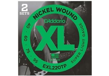 D'Addario EXL220TP Takım Tel - Bas Gitar Teli 040-095 (2 Set)